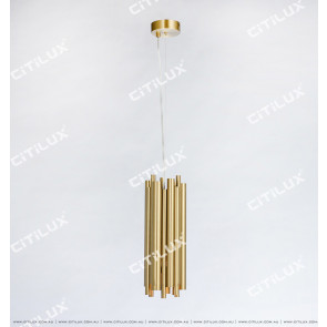 Stainless Steel Titanium Gold Texture Modern Chandelier Small Citilux