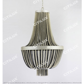 Black And White Pearl Chandelier Large Citilux