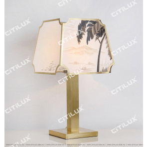 Copper Ink Painting Table Lamp Citilux