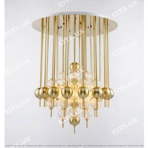 Sub-Golden Glass Ball Chandelier Citilux