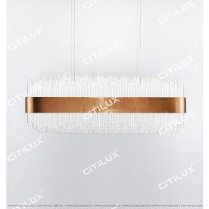 Explosion-Proof Glass Tube Modern Dining Chandelier Citilux