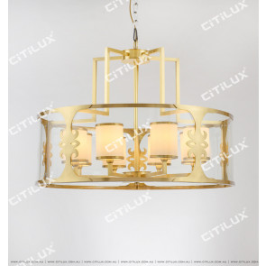 New Chinese Copper Glass Chandelier Citilux