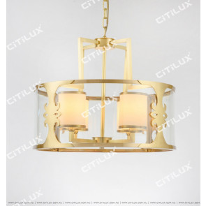 New Chinese Round Copper Chandelier Citilux