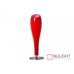 Tubo Glass Table Lamp Red VAM