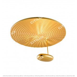 Post-Modern Water Wave Spinning Golden Ceiling Lamp Citilux