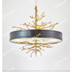 Old Copper Branch Old Chandelier Small Citilux