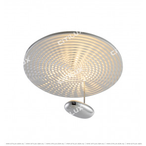 Post-Modern Water Wave Silver Ceiling Lamp Citilux