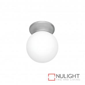 Sphere 6 Inch Diy Glass Ball Brushed Steel BRI