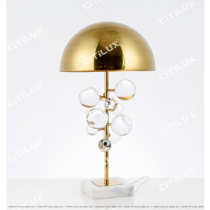 Ultra-Modern Transparent Ball Metal Cover Table Lamp Citilux