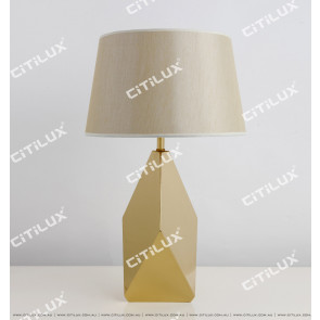 Champagne Stainless Steel Diamond Table Lamp Citilux