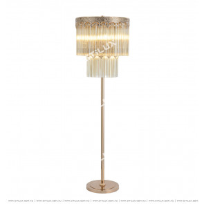 Dry Ochre Modern French Lace Floor Lamp Citilux