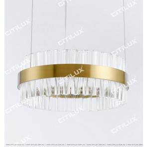 Stainless Steel Ring Glass 500Mm Gold Colour Chandelier Citilux