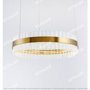 Stainless Steel Ring 800Mm Glass Chandelier Citilux