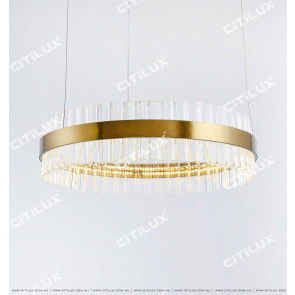 Stainless Steel Ring 1000Mm Glass Chandelier Citilux