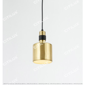 Black Gold Hollow Modern Single Head Chandelier Citilux