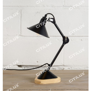 Black Bronze Adjustable Industrial Small Table Lamp Citilux
