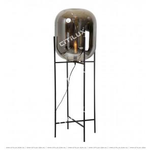 Smoke Gray Glass Modern Floor Lamp Citilux