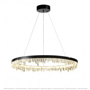 Natural Crystal Facing Down Stainless Steel Chandelier Citilux