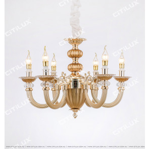 Jane Europe S Gold Glass Tube Modern Chandelier Citilux
