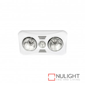 Velocity 2+1 Light 3-In-1 Bathroom Mate - White BRI