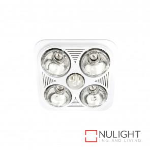 Velocity 4+1 Light 3-In-1 Bathroom Mate - White BRI