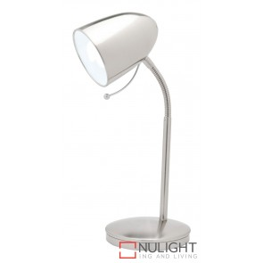 Sara Table Lamp Brushed Chrome MEC