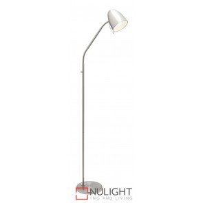 Sara Floor Lamp Brushed Chrome MEC