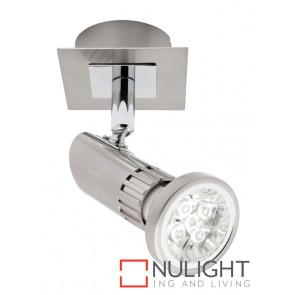 Pronto 1 Light LED Spotlight Brushed Chrome MEC