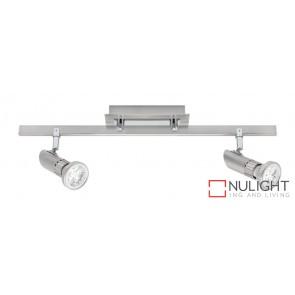 Pronto 2 Light LED Spotlight Bar Brushed Chrome MEC