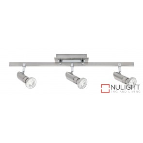 Pronto 3 Light LED Spotlight Bar Brushed Chrome MEC