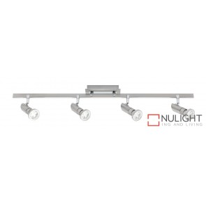 Pronto 4 Light LED Spotlight Bar Brushed Chrome MEC
