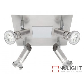Pronto 4 Light LED Spotlight Plate Brushed Chrome MEC