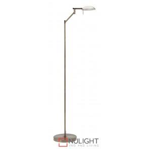 Max Floor Lamp Antique Brass MEC