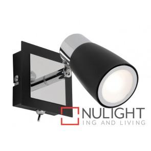 Alecia 1 Light Spotlight with Switch Black MEC