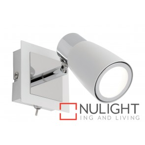 Alecia 1 Light Spotlight with Switch White MEC