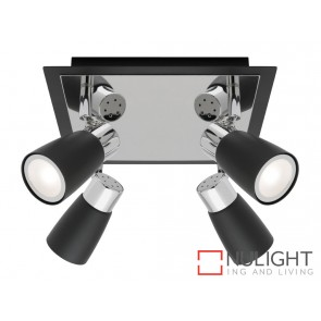 Alecia 4 Light Spotlight Plate Black MEC