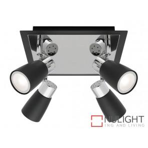 Alecia 4 Light Spotlight Plate Black MEC