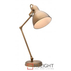 Oscar Table Lamp Antique Brass MEC