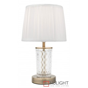 Taryn Table Lamp Antique Brass MEC