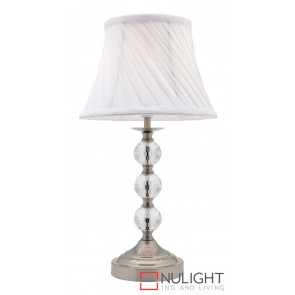 Owen Touch Table Lamp Brushed Chrome MEC