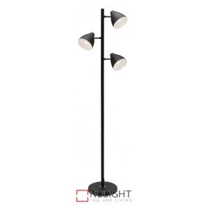 Jeremy 3 Light Floor Lamp Black MEC