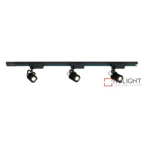 Mast 3 Light LED Track Light Black MEC