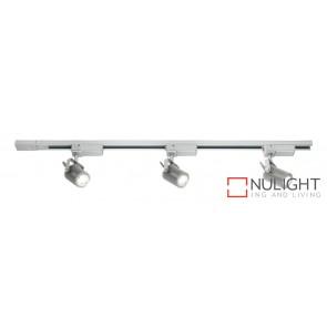 Mast 3 Light LED Track Light Silver MEC