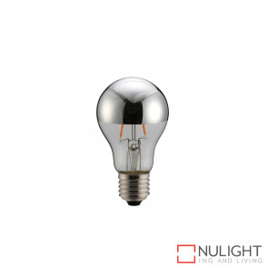 LED Crown Globe A60 6W E27 2700K Silver ORI