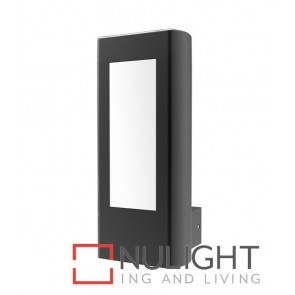 AMUN WALL LED 240V Surface Mounted Matt Black Rectangular 3000K 10W IP54 120D (560 Lumens) CLA