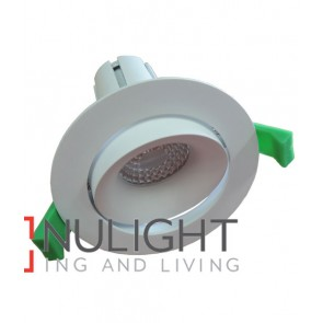 Downlight FITTING Centre Tiltable MATT White Round ARCHITECTURAL 90mm ADJ 30D (FINE BEAM) CLA