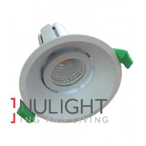 Downlight FITTING Centre Tiltable MATT White Round ARCHITECTURAL LOW GLARE 90mm ADJ 30D CLA