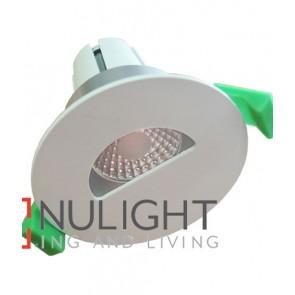 Downlight FITTING FIXED MATT White Round ARCHITECTURAL Semi Circular 70mm CLA