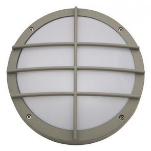 Small Getafe Grill Round Bunker Light Atom Lighting