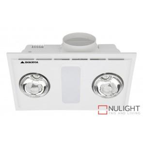Cosmo Duo Bathroom Heater with Exhaust & Light White MEC